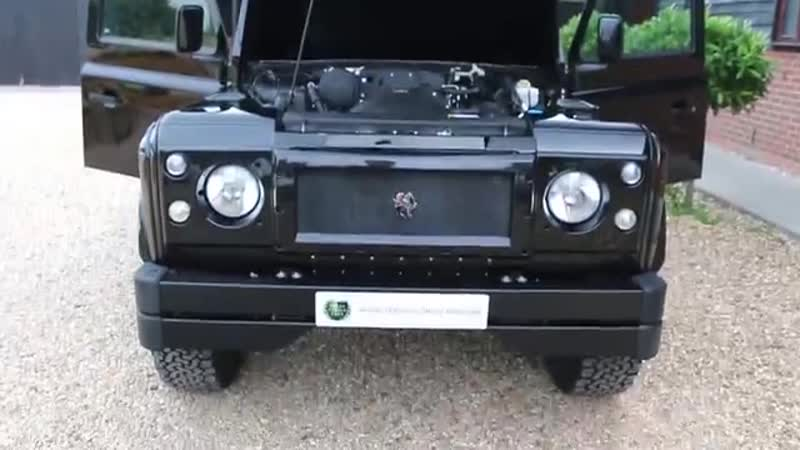 Land Rover Defender 90 2.2 TD LHD finished in Black with Full Black and Red Prem