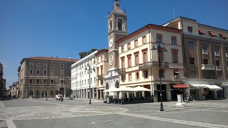 Piazza tre martiri Rimini площадь трех мучеников Римини Италия