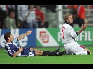 Дэвид Бекхэм vs Диего Симеоне / Англия vs Аргентина / Чемпионат Мира 1998
