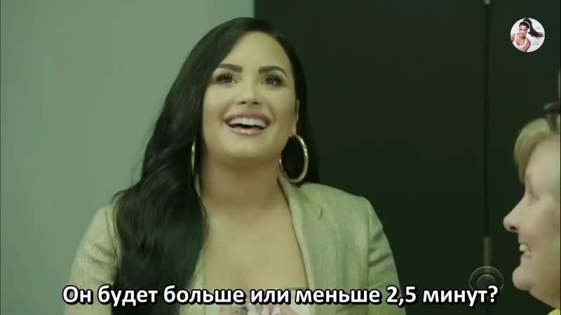 Demi Lovato on James Corden's Show рус суб
