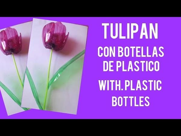 TULIPANES CON BOTELLAS DE PLASTICO