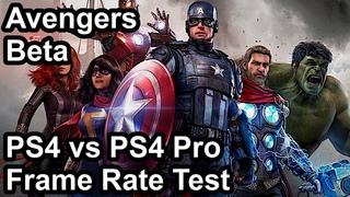Marvel's Avengers PS4 Pro vs PS4 Frame Rate Comparison (Beta)