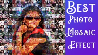 Best Photoshop effect For Wedding album design Tutorial in Hindi in Photoshop Photo Mosaic Effect