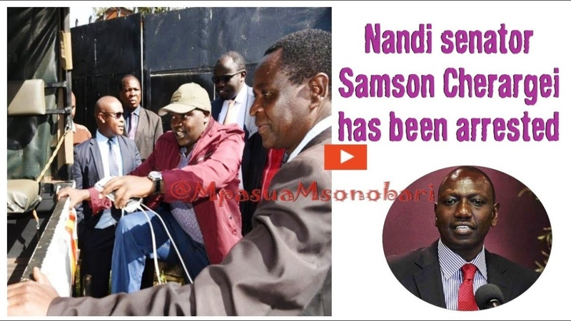 How the Powerful Nandi Senator Samsom Kiprotich Cherargei was Arrested and released same day
