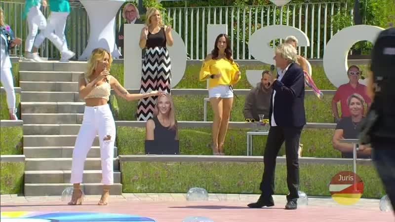 Sonia Liebing Bernhard Brink Du hast mich einmal zu oft angesehn ZDF Fernsehgarten 12.07. 2020