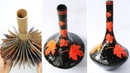 How to make a Flower Vase from cardboard and plaster | Full steps