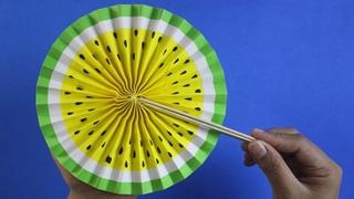 Lagi Viral! Kipas Origami Motif Buah Semangka - Kerajinan Tangan #1