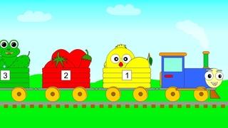 Паровозик - Учим Цвета и Цифры - Развивающий Мультик для Детей