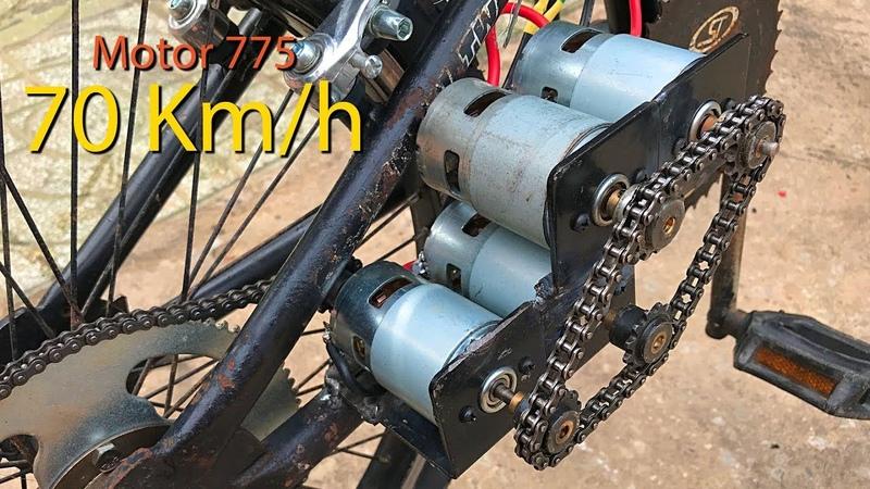 Chế xe đạp điện sử dụng 4 Motor 775 tốc độ 70km h DIY Make Electric Bike using motor YouTube