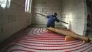 Заливаем теплый водяной пол c трубой PE RT бетоном