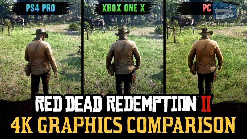 Red Dead Redemption 2 4K Comparison PC PS4 Pro Xbox One X