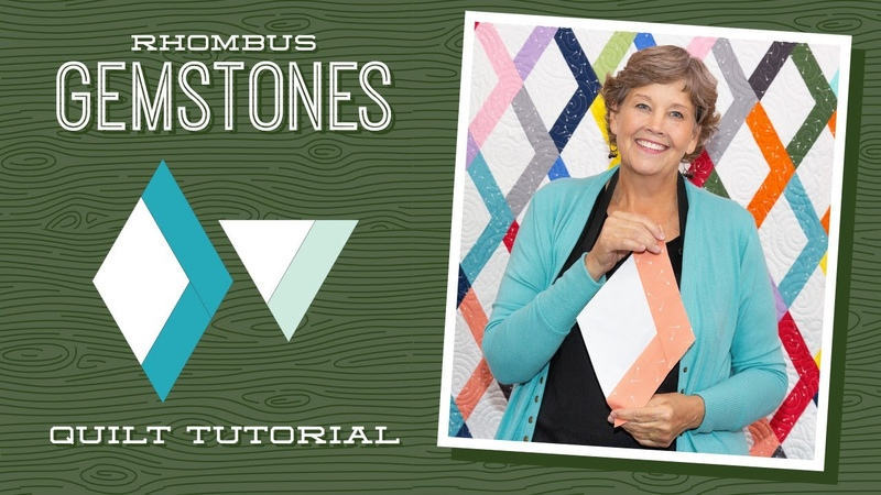 Make a Rhombus Gemstones Quilt with Jenny Doan of Missouri Star Video Tutorial