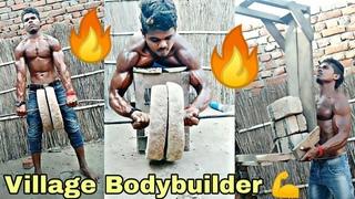 Indian Village Powerful Bodybuilder   Village Desi GYM Workout   Muscular Bodybuilder Of Tik-Tok .