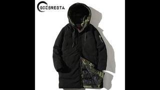 Мужская утепленная куртка goesresta, камуфляжная длинная повседневная парка с капюшоном, хлопковая куртка большого размера, для