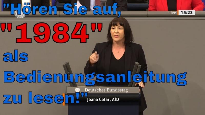 Joana Cotar AfD Die Bundesregierung fährt einen Vollangriff auf die Bürgerrechte