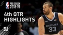 Memphis Grizzlies vs Houston Rockets - 4th Qtr Highlights | October 2, 2018 | 2018 NBA Preseason