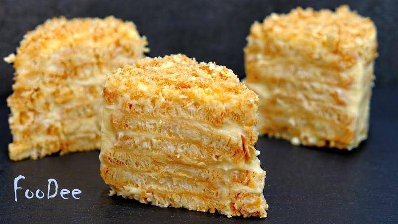 Торт Наполеон без выпечки за 20 минут Простой и быстрый рецепт торта