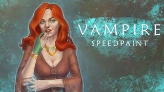 Vampire speedpaint   Drawing timelapse   Original character Henna