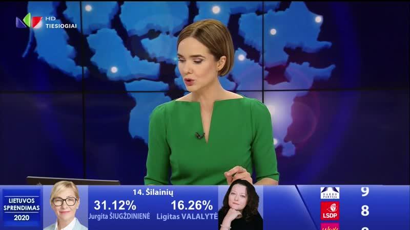 LNK HD - фрагмент специальной передачи, посвящённой парламентским выборам в Литве (25.10.2020)
