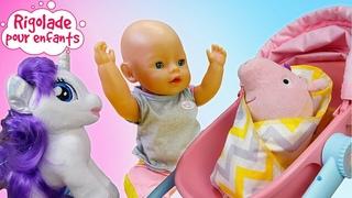 Peppa Pig, My little Pony, Baby Born: le mime fera-t-il face à tous les enfants? Vidéo pour filles