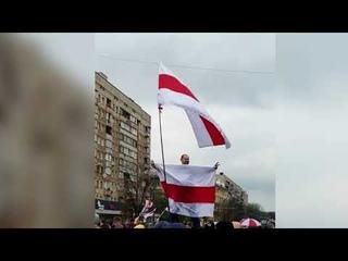 За перекрытие движения и протест у здания КГБ задержан минчанин