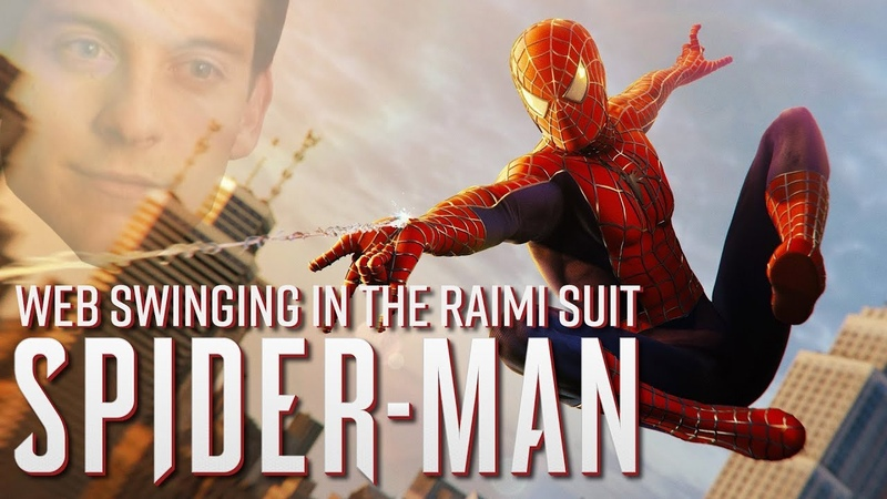 Spider Man PS4 Epic Web Swinging in the Raimi Suit Danny Elfman Score