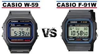 Casio F-91W  VS  Casio W-59