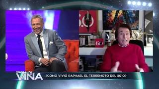 """Raphael recordó cómo vivió el terremoto del 2010.""""Todos a Viña"""".Canal ."""