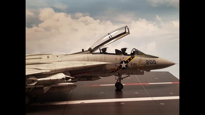 F 14A Tomcat 1 48 Tamiya US Navy Jet Model step by step build video