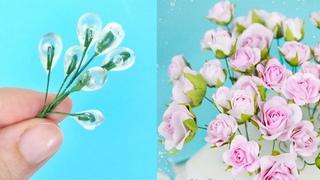 Как я делаю основу для бутонов небольших роз. Быстро и просто основа из проволоки и термоклея.