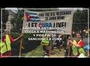 Caminata antibloqueo llega a Washington y pide fin de sanciones a Cuba