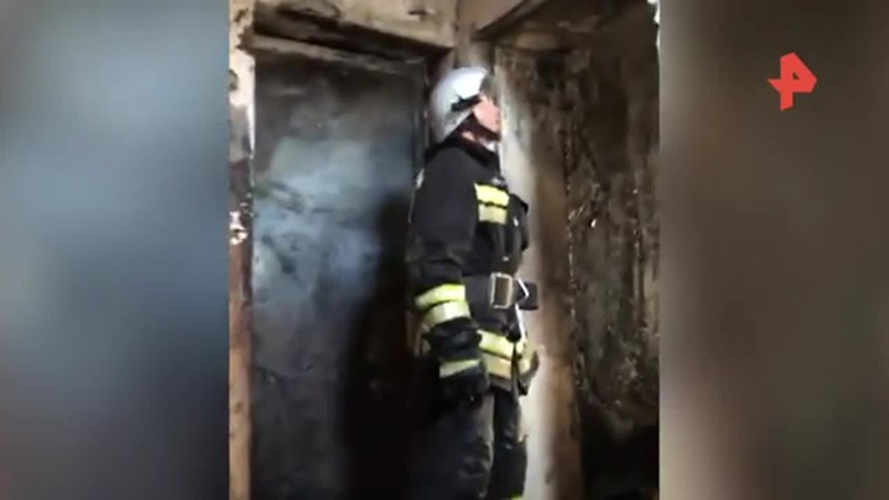 Видео с места взрыва газа в квартире дома в КБР где пострадали дети