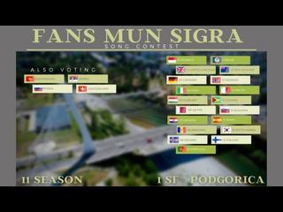 FANS MUN SIGRA SONG CONTEST, Edition 10, Montenegro. Semi Final 1, Podgorica