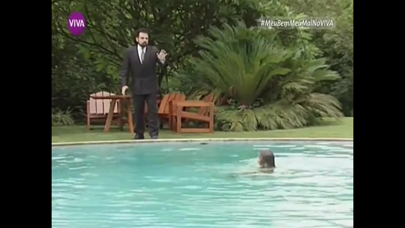 Порфирио и Магда у бассейна сериал Моя любовь моя печаль