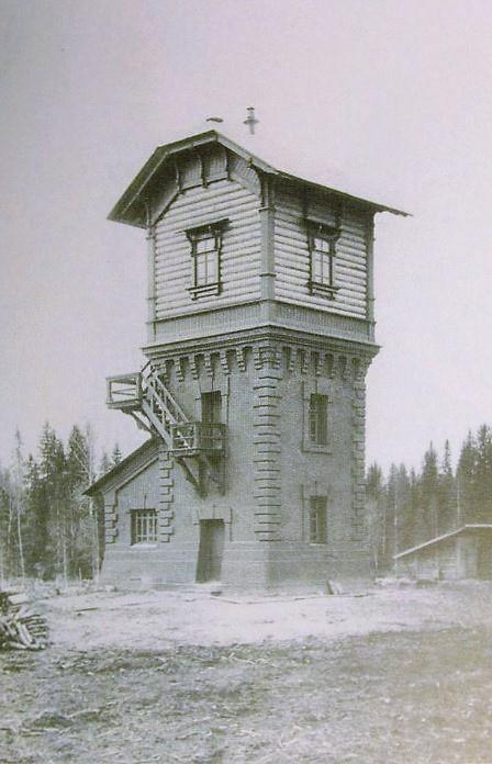 Водонапорная башня на станции Вандыш (Коношский район)