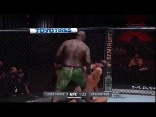 UFC. ММА.UFC 252: нокаут в бою Жаирзиньо Розенстрайк - Джуниор Дос Сантос