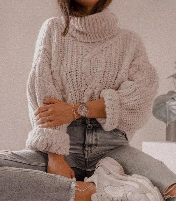 С чем носить свитер. Стильные комбинации