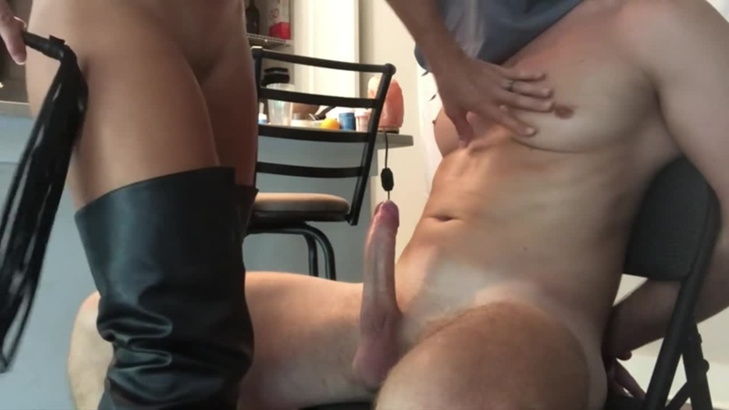 Amateur Dominatrix Ties and Fucks in new Thigh high