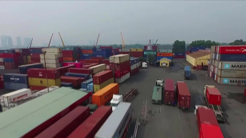 Vận tải công ten nơ nội địa xuất nhập