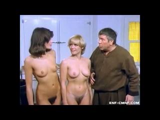 ENF, CMNF-отрывок из немецкой комедии – две смущённые женщины раздеваются догола перед одетым мужчиной