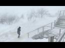 Снежная пурга в Анадыре. Порывы ветра до 44 м/c 4.03.2021