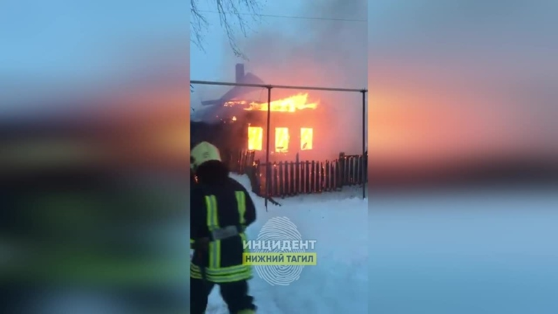 Пожар в Большой Лае 30 01 2021