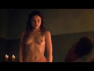 Hanna Mangan-Lawrence - Spartacus (s02e07) (2012) (эротическая постельная сцена из фильма знаменитость трахается голая sex scene