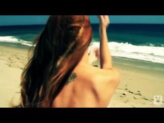 Leanna Decker Playboy сексуальная модель звезда большие натуральные сиськи на пляже плейбой шикарная жопа голая соски секс порно