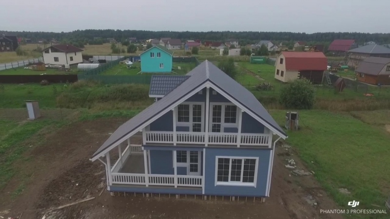 Каркасные дома, СК Каскад Каркасный дом по проекту КД-36