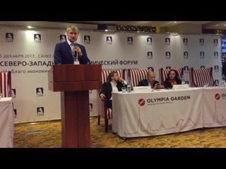 Андрей Карпухов представляет Блокчейн Фонд на Северо-Западном Экономическом Форуме в СПб