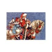 Набор для вышивания `Дед Мороз на лошади` (Энн Ивонн Гилберт)