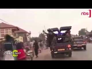 UGANDAN POLICE MASTERED THE ART OF CROWD CONTROL