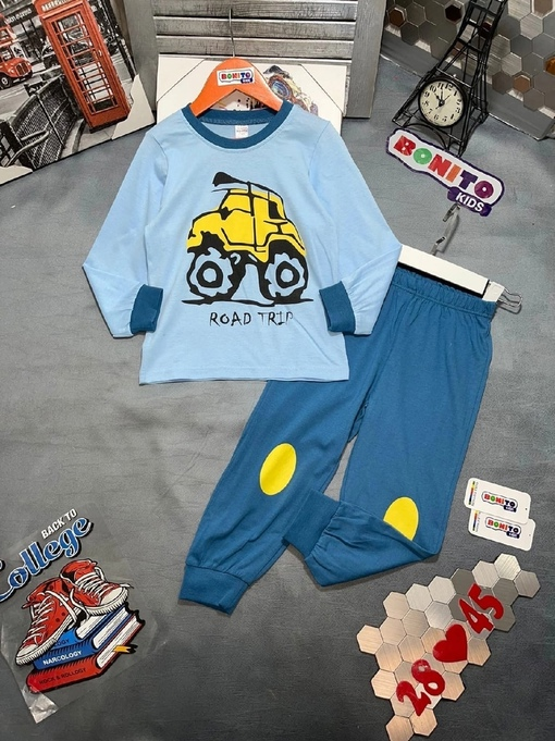 Новинки   Хороший Пижама   Цена   Размер, 98,104,110,116,122, рост   Упаковка 5x, руб    Ткань супер хлопок   Фирма BONITO
