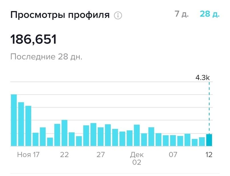 Столько людей посетило профиль за 28 дней